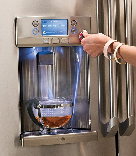 GE Refrigerator with Hot Water Dispenser