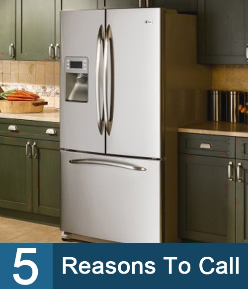 Five Reasons To Call A Refrigerator Repair Specialist