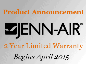 Whirlpool Announces Two Year Limited Jenn Air Warranty