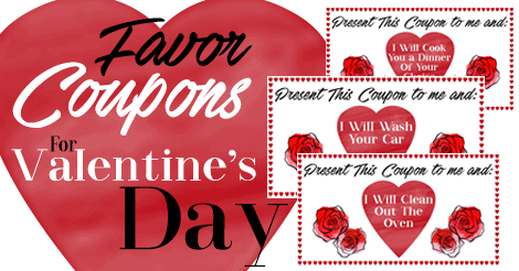 Favor Coupons For Valentine's Day