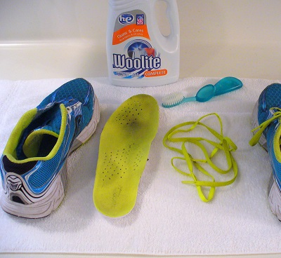 shoes in the washing machine