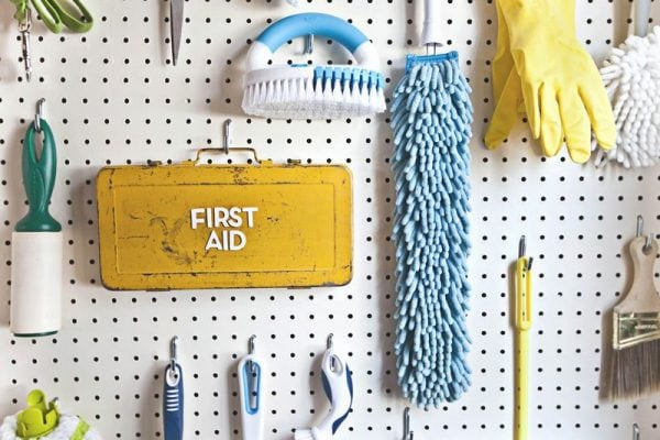 how to organize your laundry room on a budget
