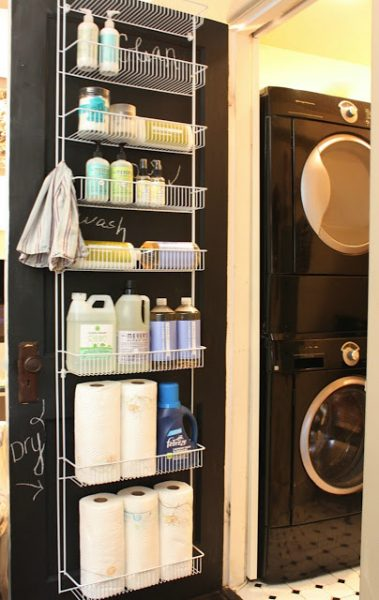 cheap laundry room organization