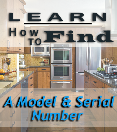 how to find model serial on appliance